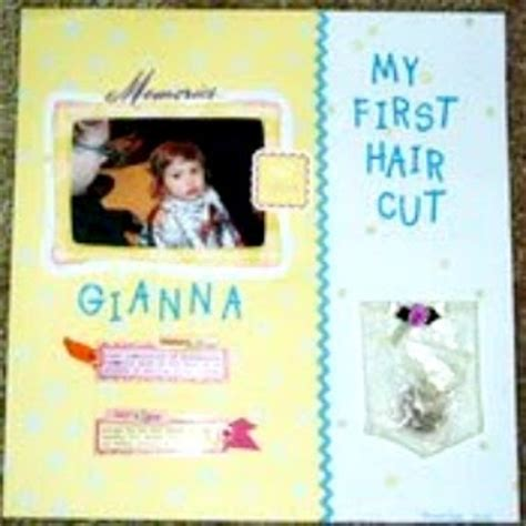 scrapbook layout for first haircut passionate about crafting scrapbooking baby s first