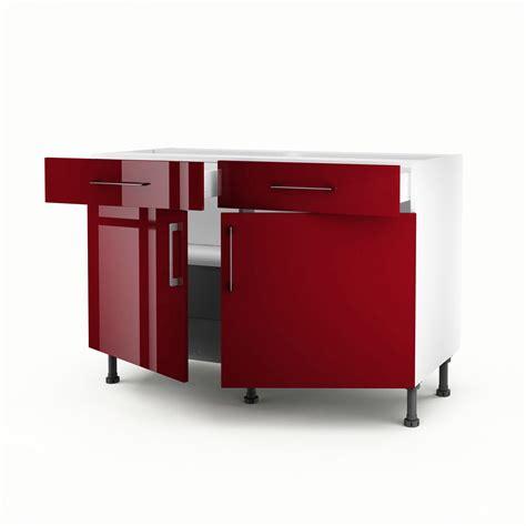 meuble de cuisine bas 2 portes 2 tiroirs griotte h