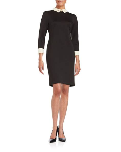 Ivanka Black Dress ivanka collared sheath dress in black black