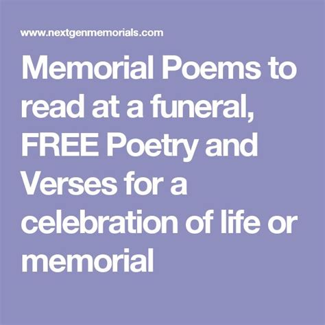 funeral poems memorial poems to read at a funeral free 91 best planning a celebration of life images on