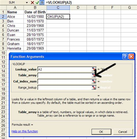 Vlookup Table Array by How To Cross Reference Spreadsheet Data Using Vlookup