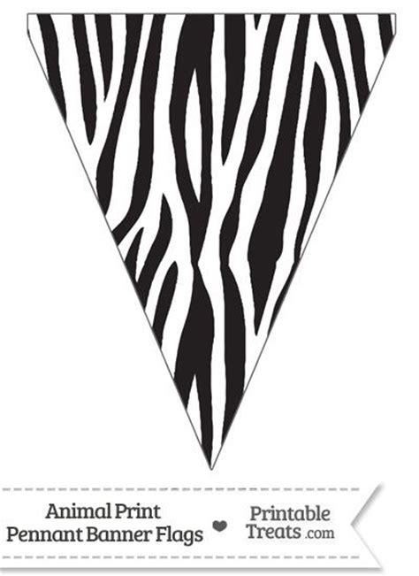 free printable zebra print birthday banner zebra print pennant banner flag from printabletreats com