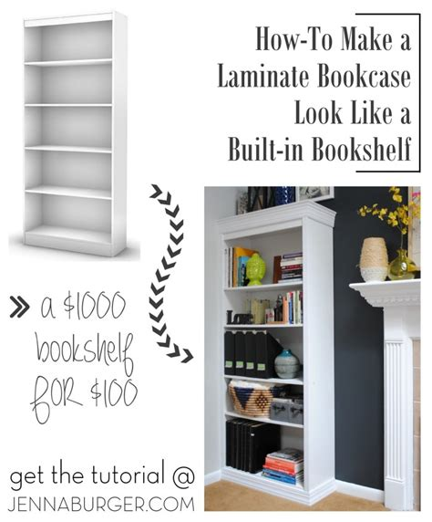 bookshelves that look like built ins how to make a laminate bookcase look like a built in