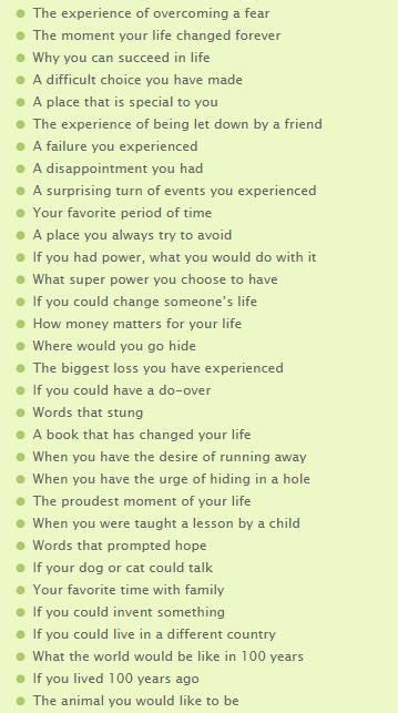 creative essay writing topics 100 personal essay topics this list has some really prompts http www neindiaresearch
