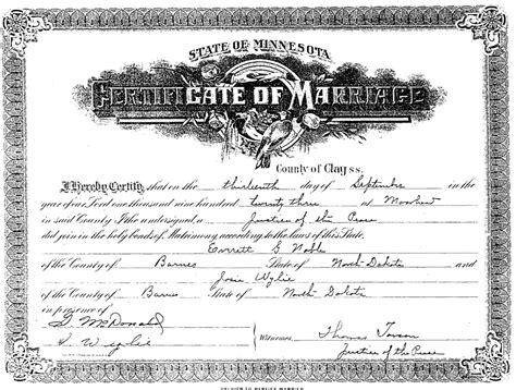 Minnesota Marriage License Records Ira Scalf Of Scalf