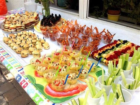 Fun Food Party Recipes   Party Buffet   Erica Samm