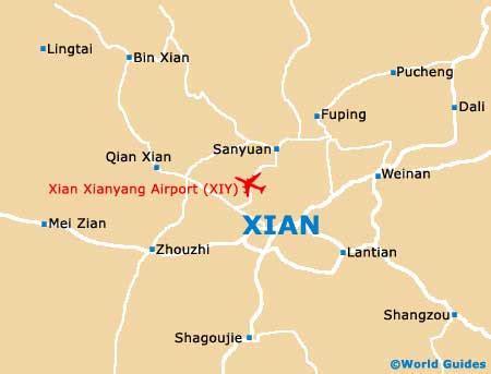 xian maps  orientation xian shaanxi china