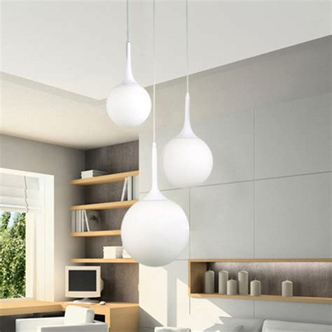 Living Room Ceiling Light Shades Glass Led Ceiling Light Fixture Pendant L Lighting Chandelier Living Room Us Ebay