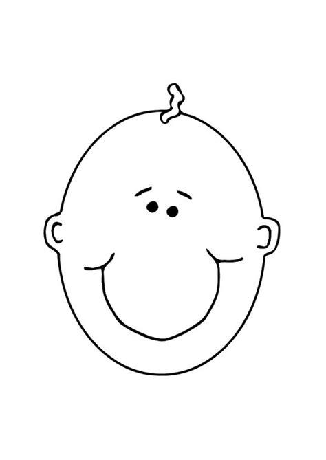 dibujos para colorear de cara feliz kleurplaat gezicht baby afb 10622
