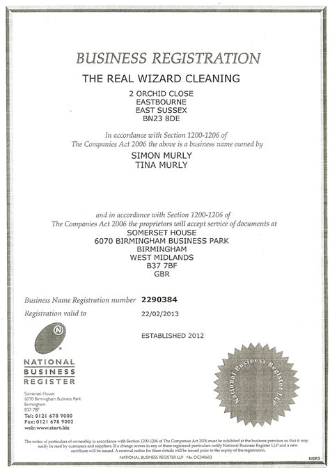 Company Registered Address Search Important Documents The Real Wizard Cleaning