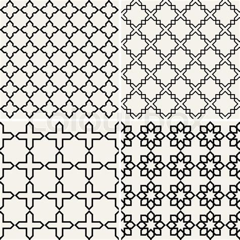graphic design pattern vector abstract modern backgrounds set geometric seamless