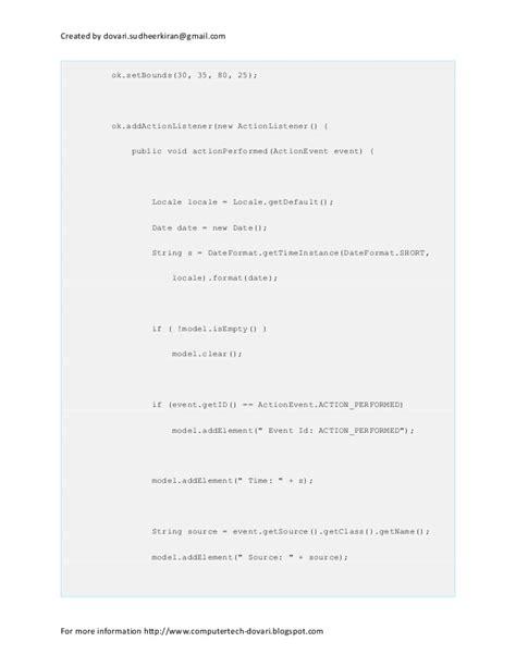setbounds in java swing the java swing tutorial