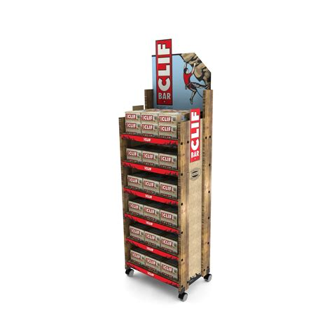 Clif Bar Shelf by 15 Awesome Retail Wood Floor Displays