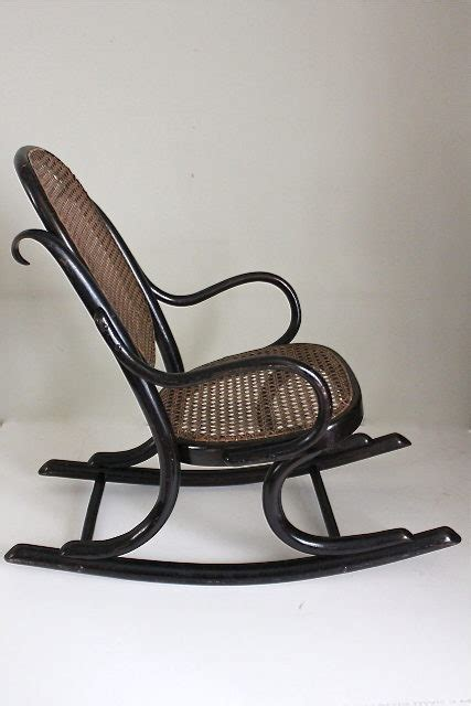 thonet bentwood rocking chair no 1 antiques atlas thonet ebonised bentwood child s rocking chair antiques