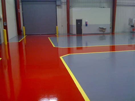 red floor paint epoxy flooring coatings concrete floor polishing