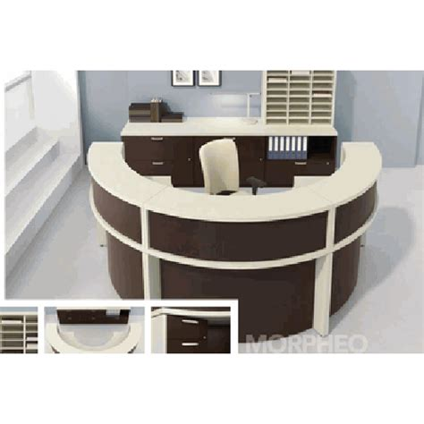 Circular Reception Desk Reception Desk Workstation Semi Circular 114 Quot X 108 Quot