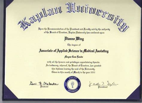 diannewing2 associates degree assisting