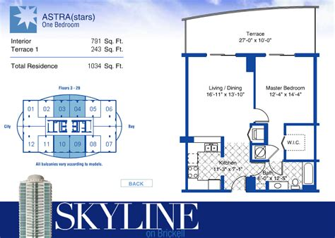 skyline on brickell condo floor plans