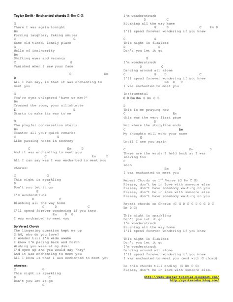 lyrics of enchanted by taylor swift with chords enchanted guitar chords standard guitar tuning