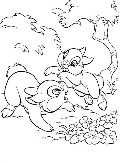thumper coloring pages for girls thumper playing