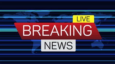 breaking news background breaking news live motion banner on worldmap business