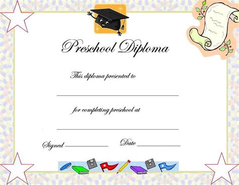 certification letter for graduation preschool graduation certificate template