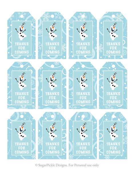 printable tags canada frozen favor tags thank you tags loot bag tags frozen