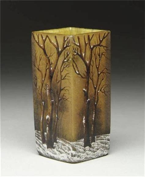 daum nancy winter cameo vase