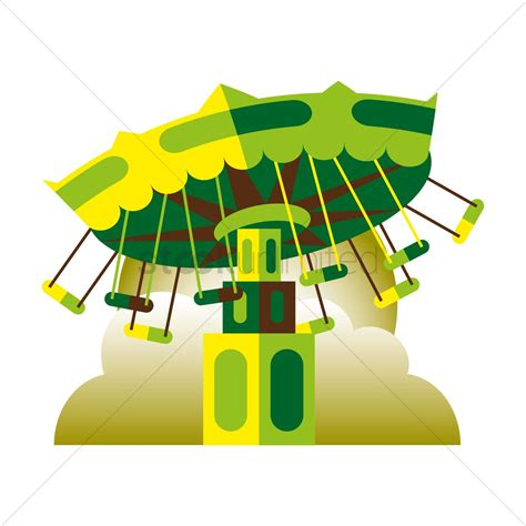 swing vector carnival swing ride vector image 1411777 stockunlimited
