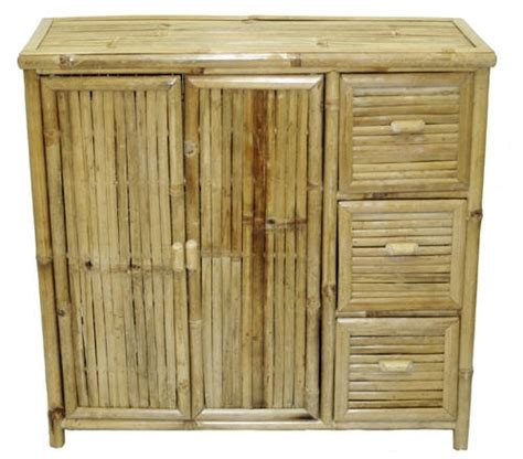 bamboo storage unit with drawers bamboo tropical