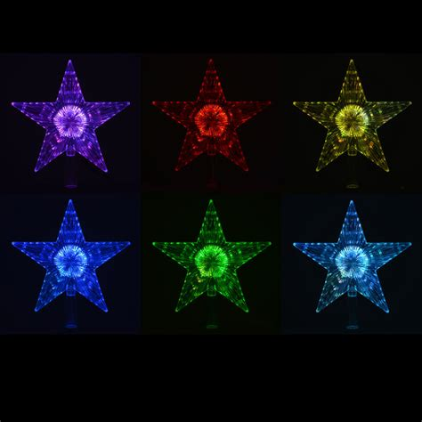 led christmas tree multi color changing topper colour changing led light up tree topper
