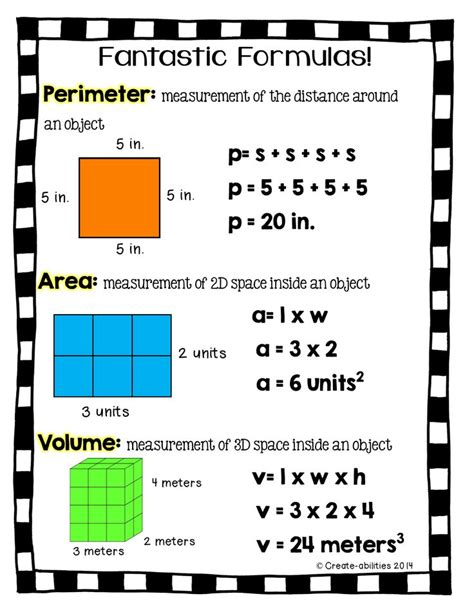 printable area formulas best 25 math formula chart ideas on pinterest math