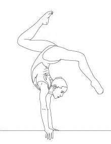 gymnastics coloring pages free coloring pages of gymnastics