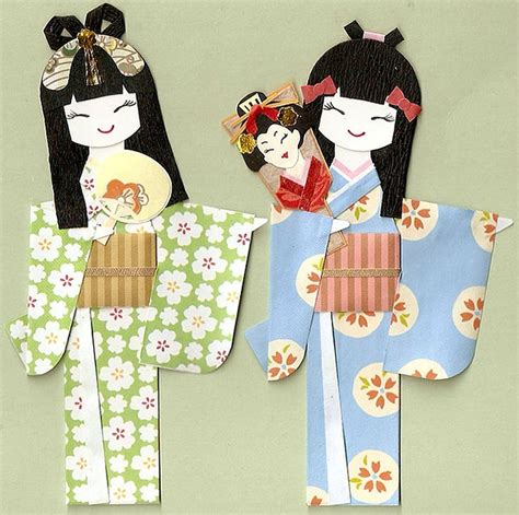 How To Make Japanese Paper Dolls - japanese paper dolls japanese