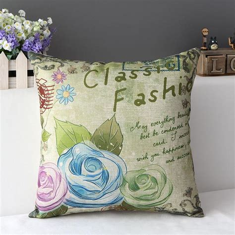 Painted Pillows by Aliexpress Buy Painted Flower Decorative Throw