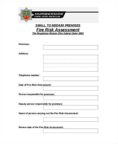 workplace hazard assessment template sle workplace risk assessment forms 8 free documents