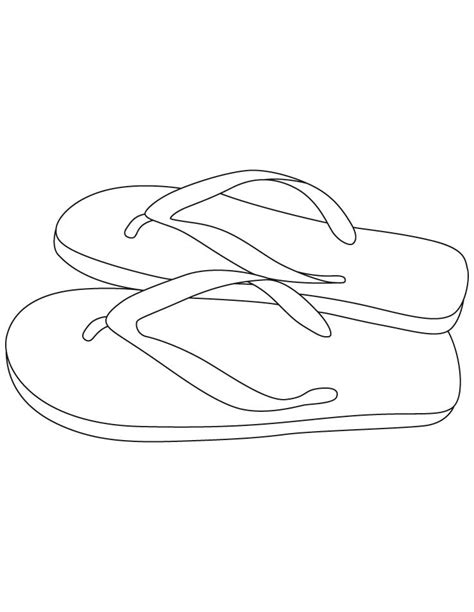 pair of slipper coloring pages coloring pages