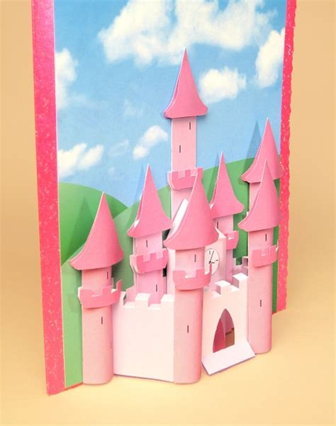 castle card template a4 card templates for 3d princess castle