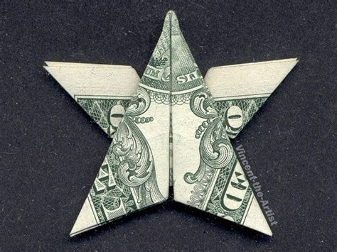 Origami From A Dollar Bill - dollar bill money origami