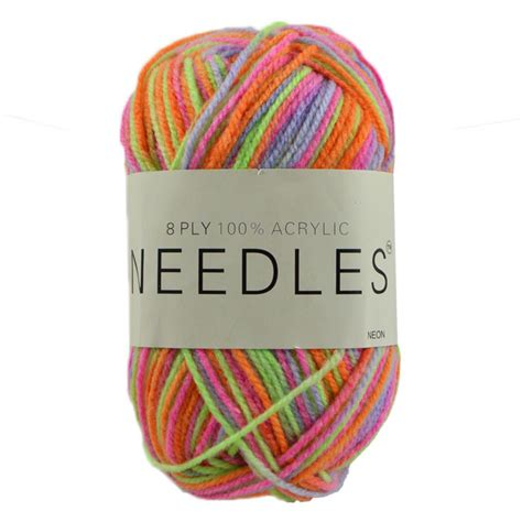 neon yarn for knitting needles acrylic knitting yarn 8 ply 100g multi neon