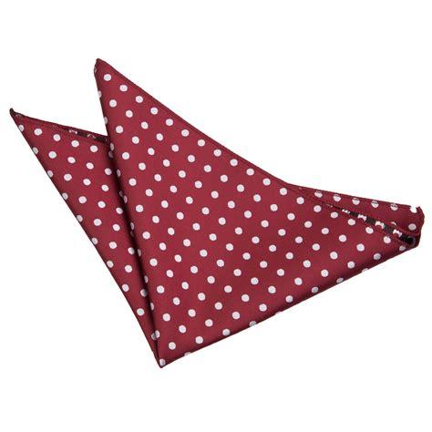 Pocket Polka polka dot burgundy handkerchief pocket square