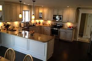 u shaped kitchen design with american woodmark cabinets pin by kate johnson on remodeling ideas pinterest