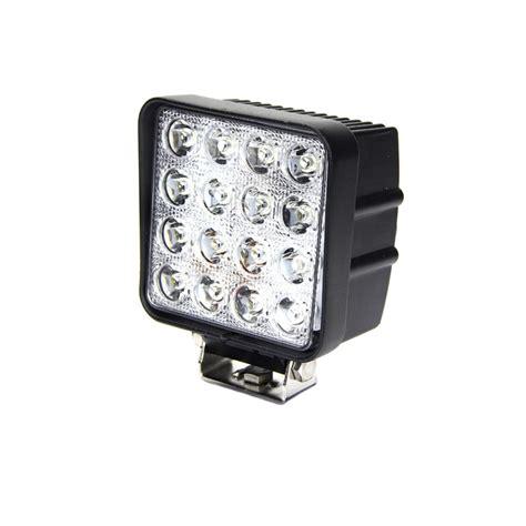 48 inch led light square led work light 4 inch 48 watt tuff led lights