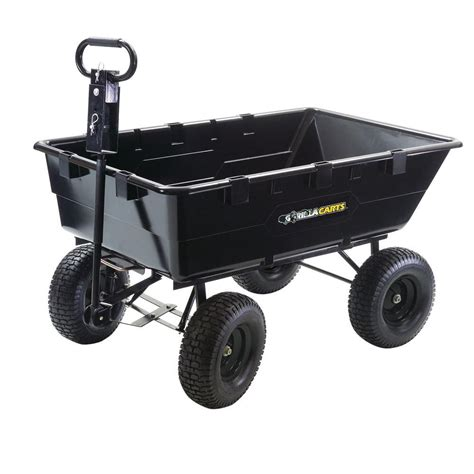 gorilla carts carts wheelbarrows heavy duty 10 cu