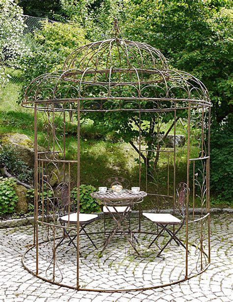 Pavillon Oben by Pavillon Quot Avis Quot Rund D 212 Cm Rostoptik Gartenpavillon