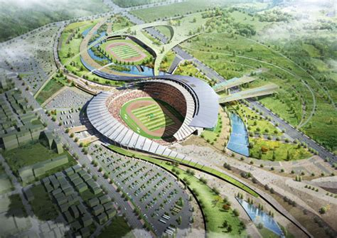 Landscape Architecture Korea 2014 Asian Stadium Incheon South Korea Populous