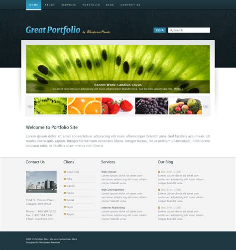 businessus business wordpress template from pandathemes