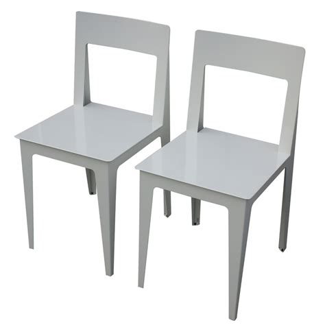 Ligne Roset Dining Chairs 2 Ligne Roset La Pilee Dining Chairs White Lacquer