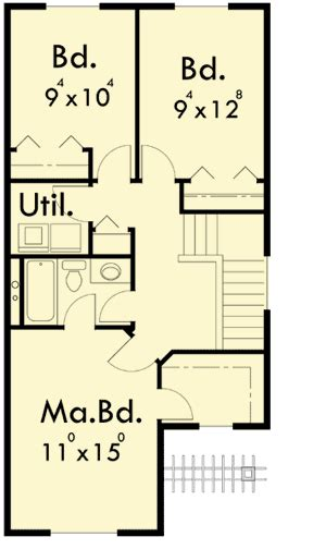 narrow lot duplex floor plans narrow lot duplex house plan 8185lb architectural