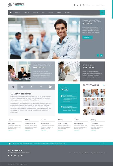 theme wordpress organization cacoon business wp theme by wpthemes on deviantart
